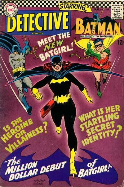 Cover for Detective Comics #359 - the comics debut of Batgirl